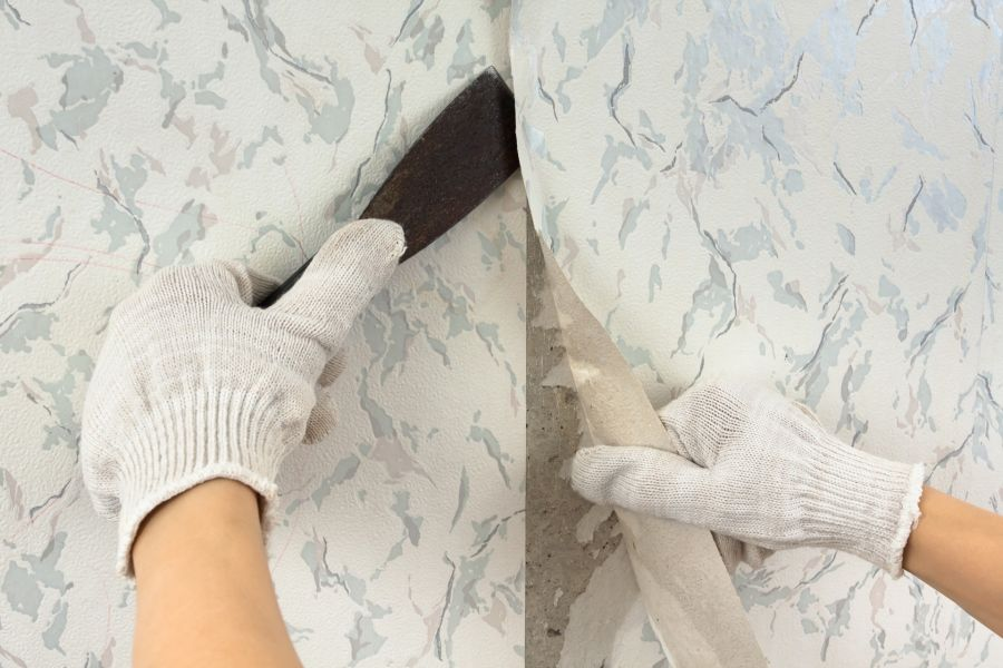 Wallpaper Removal by Mendoza's Paint & Remodeling