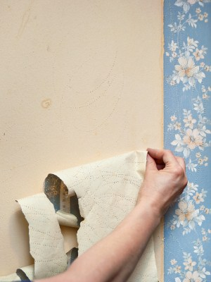 Wallpaper removal by Mendoza's Paint & Remodeling.
