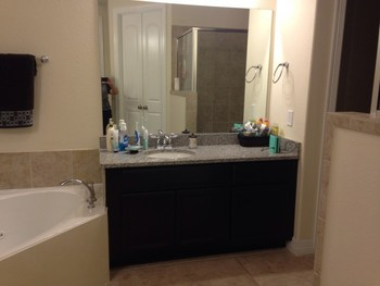 Vanity after refinishing in Cypress Tx