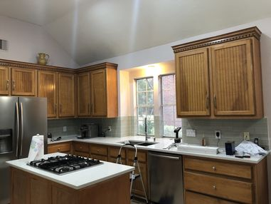 Before & After Kitchen Cabinet Painting in Houston, TX (5)
