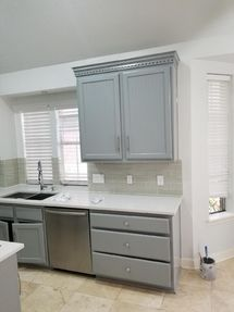 Before & After Kitchen Cabinet Painting in Houston, TX (6)
