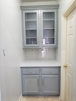 Before & After Kitchen Cabinet Painting in Houston, TX (2)