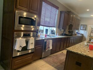 Before and After Kitchen Cabinets Refinishing in Fulshear, TX (1)