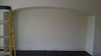 Before Interior Painting Chevron Pattern Wall Houston, TX