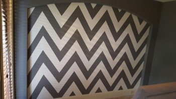 Interior Painting Chevron Pattern Wall Houston, TX