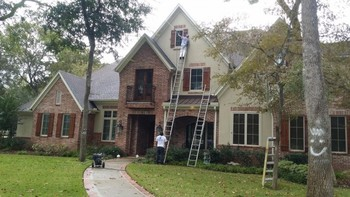 Residential exterior pressure washing & gutter cleaning in richmond, tx