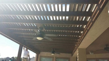 Residential pergola painting in Katy, TX