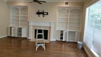 Interior built in cabinets repainted in Bellaire, TX
