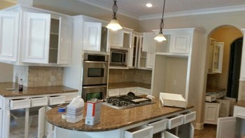 Kitchen cabinets painted  in Bellaire, TX