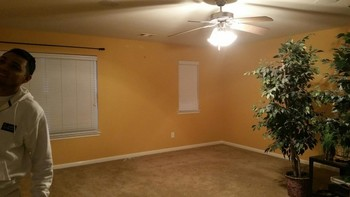 Interior Painting of Texans Colors in a Game Room in Northwest Houston, TX