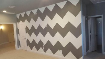 Chevron Pattern Design by Mendoza's Paint & Remodeling in Cypress, TX