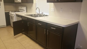 Kitchen Cabinet Refinishing by Mendoza's Paint & Remodeling in Spring, TX