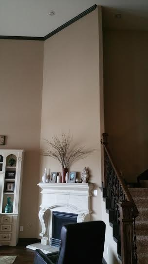 Before and After Pictures of Accent Walls in Cypress TX